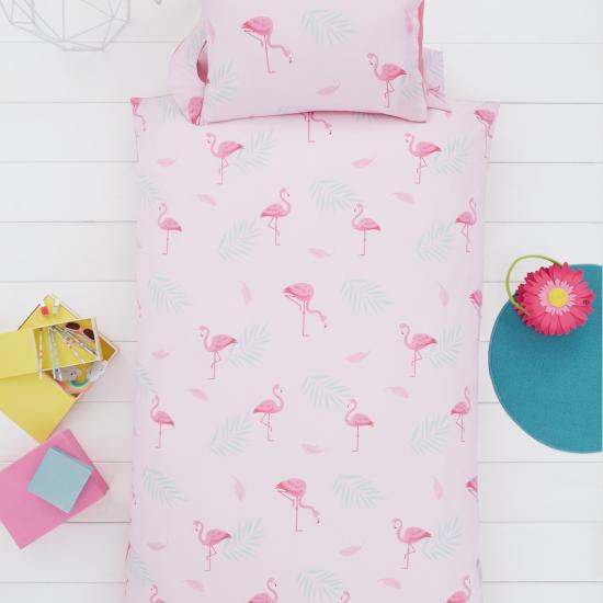 Children's single bedding set FLAMINGO 137x200